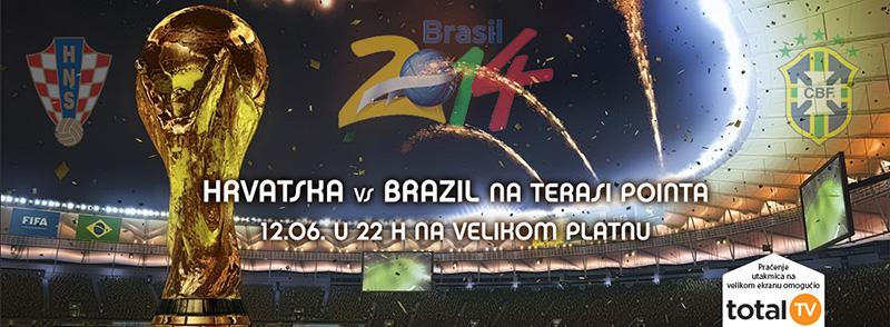 Hrvatska vs Brazil na terasi Pointa