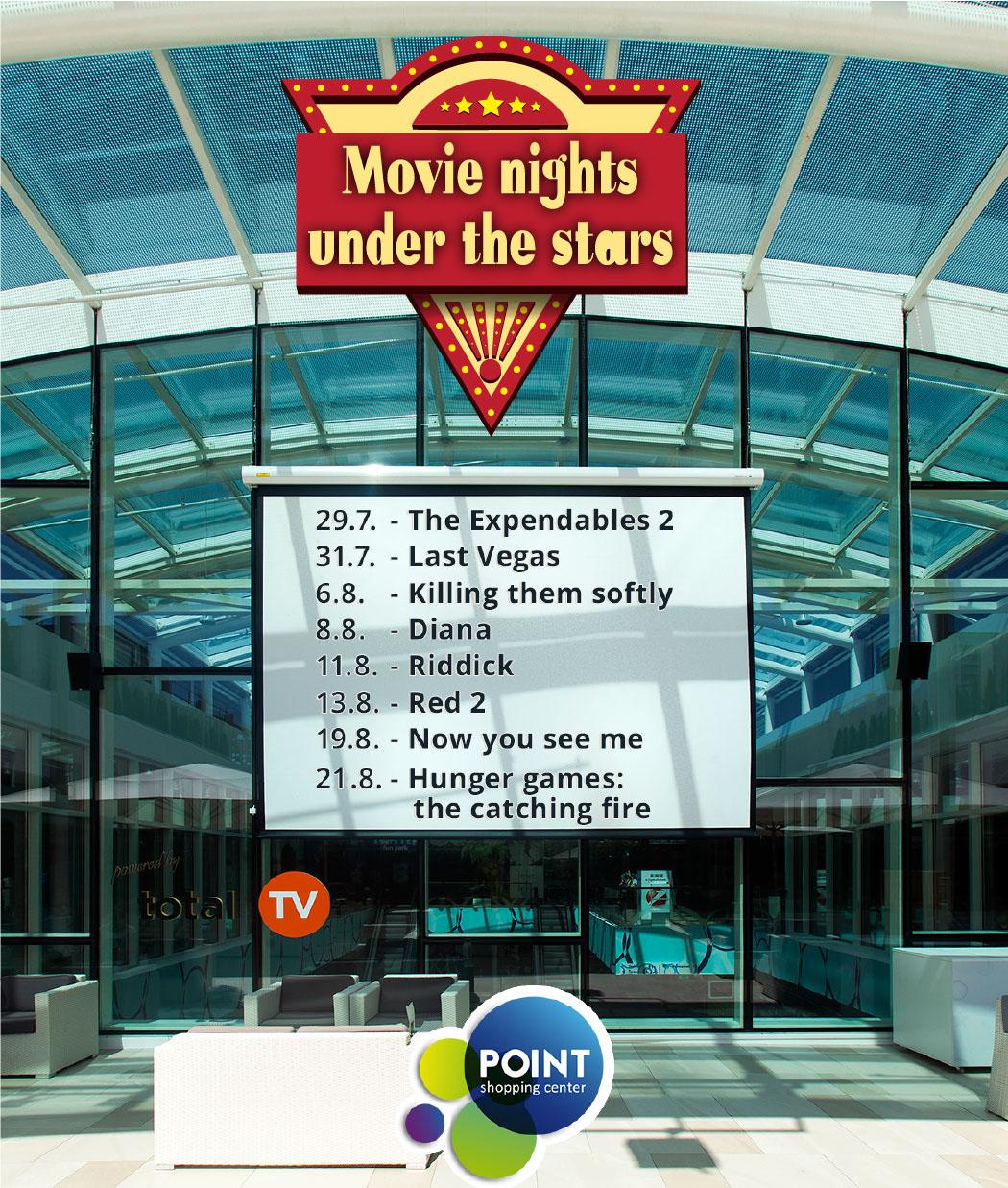 Movie nights under the stars