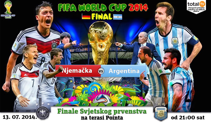 Finale Svjetskog prvenstva u nogometu na terasi Pointa