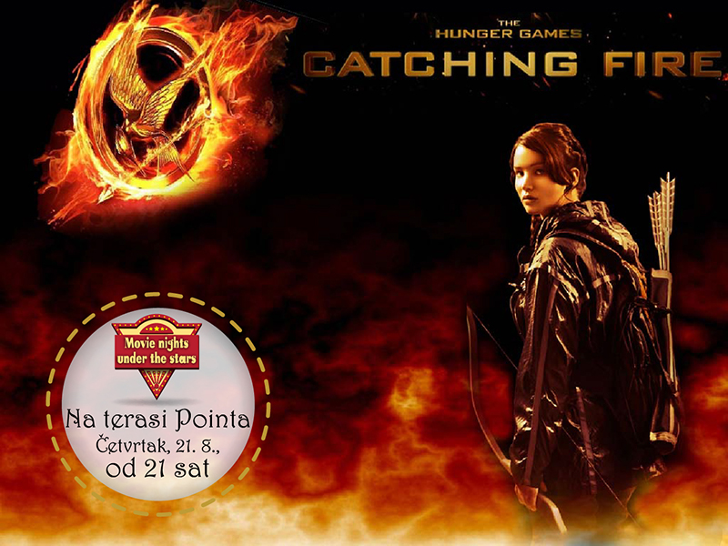 "Večeras projekcija filma ""Hunger games: The catching fire"""