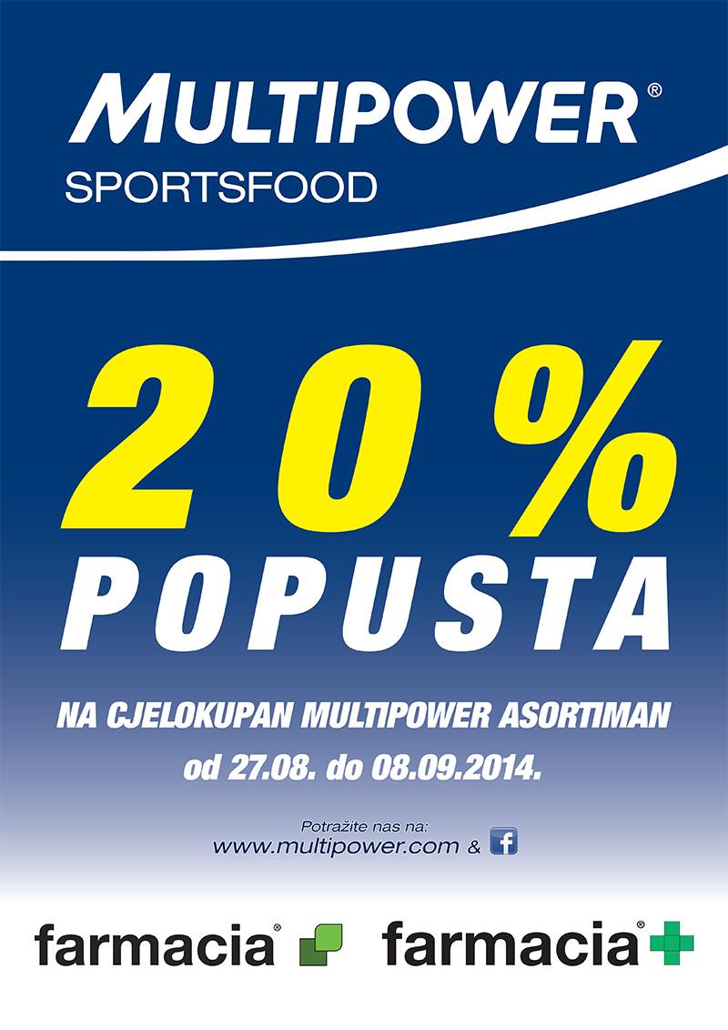 Popust na Multipower asortiman sportske prehrane i dodataka prehrani