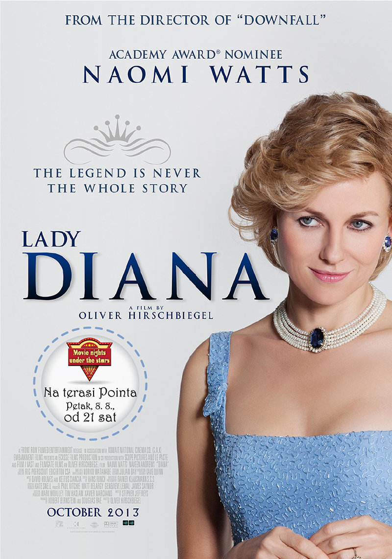 Projekcija filma 'Diana' na terasi Pointa