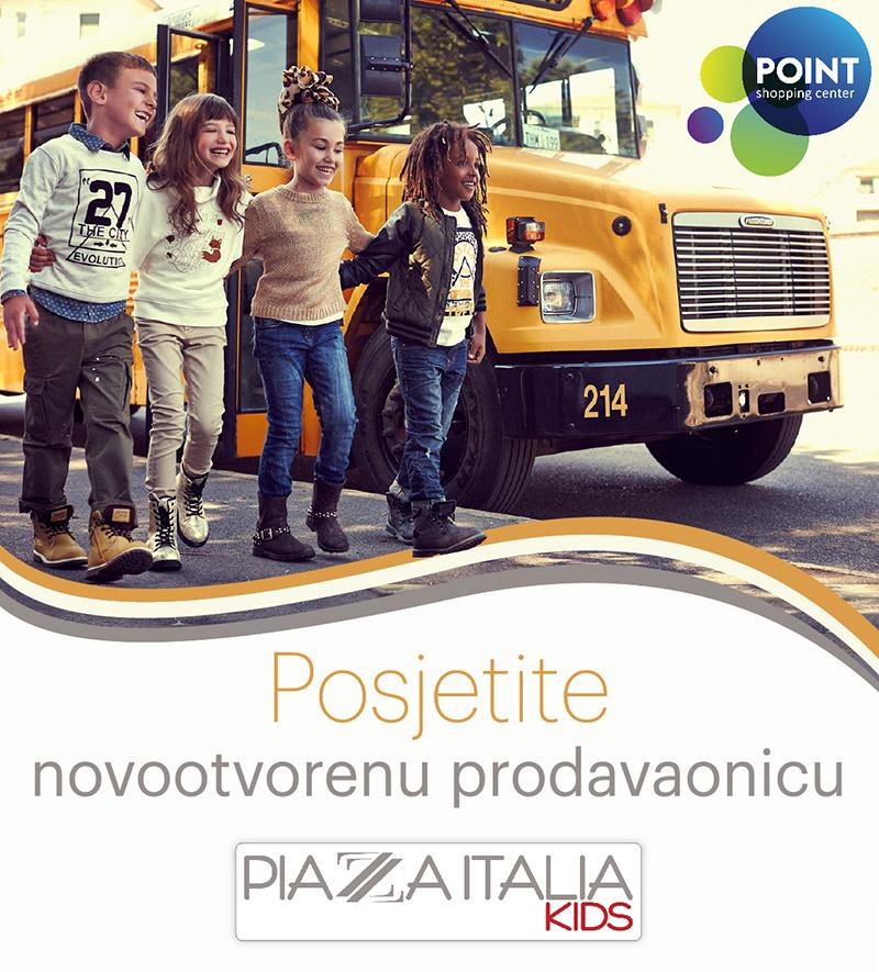 Posjetite novootvorenu prodavaonicu Piazza Italia Kids