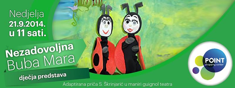 Dječja predstava 'Nezadovoljna Buba Mara'