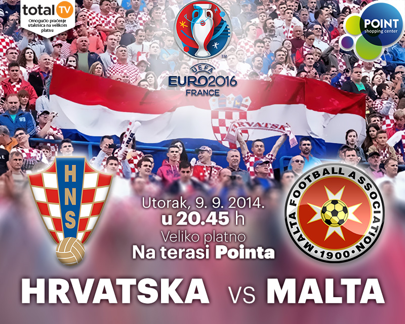 Kvalifikacijska utakmica za Euro 2016.: Hrvatska – Malta na terasi Pointa