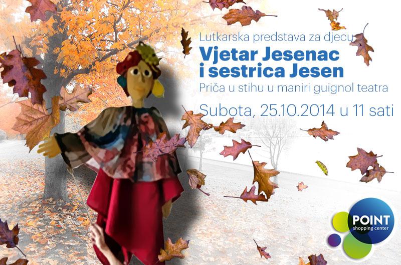 Lutkarska predstava za djecu 'Vjetar Jesenac i sestrica Jesen'