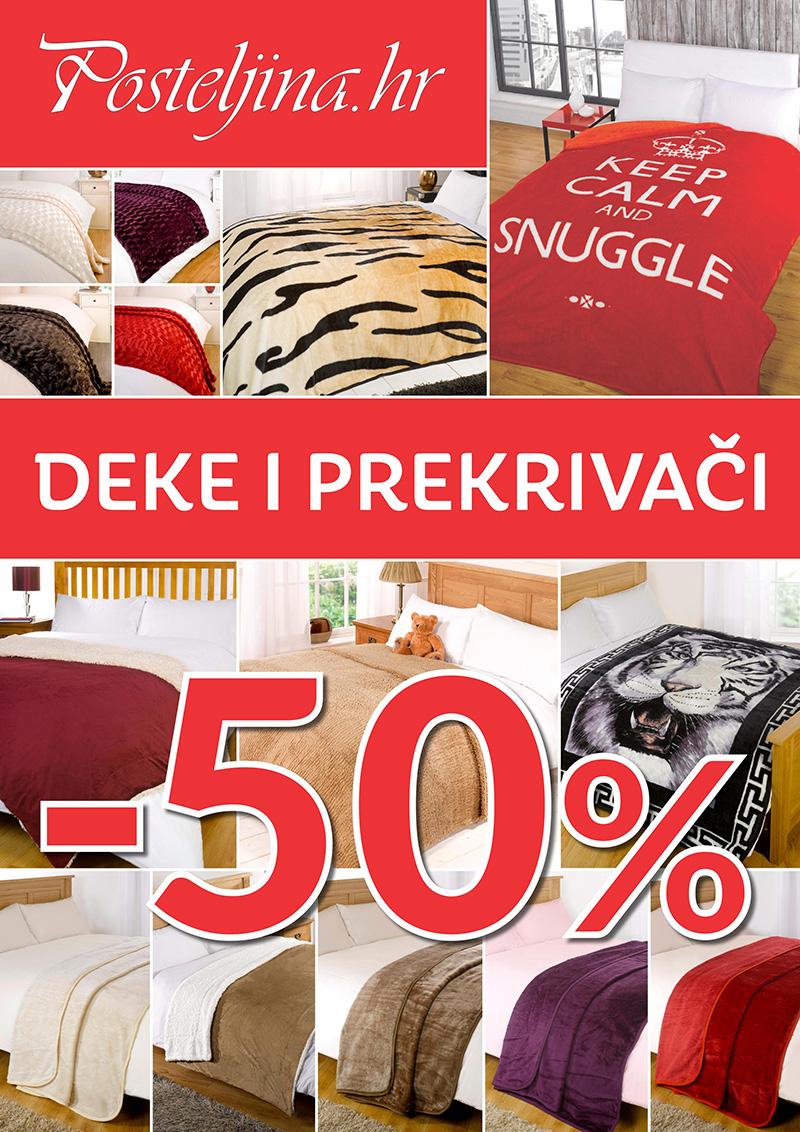 50% popusta na deke i prekrivače u Posteljina.hr