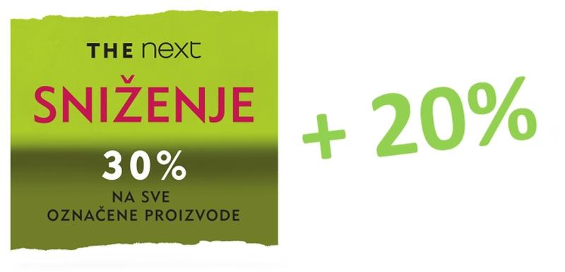 Dodatni popusti 20% u Nextu