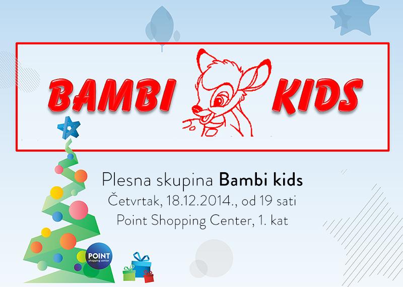 Nastup plesne skupine Bambi kids