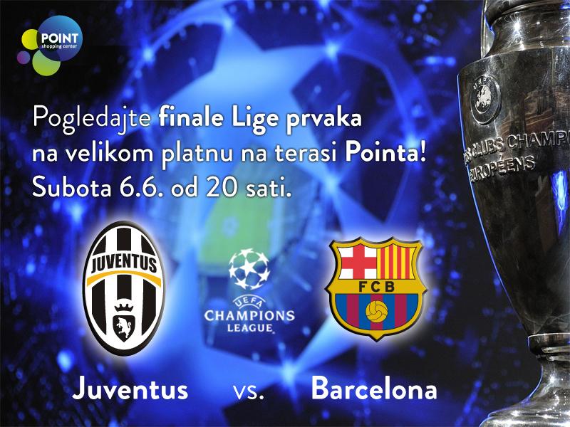 Finalna utakmica Lige prvaka na velikom platnu