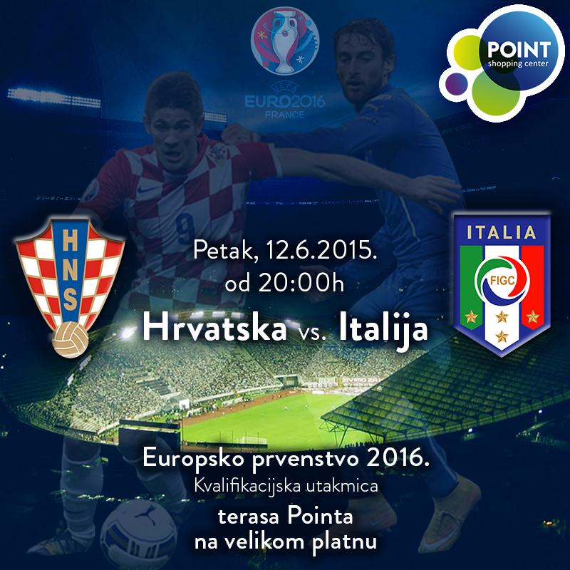 Prijenos utakmice Hrvatska - Italija na velikom platnu