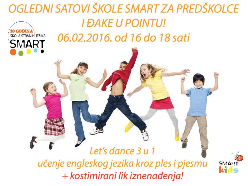 Ogledni satovi škole Smart za predškolce i đake u Pointu!
