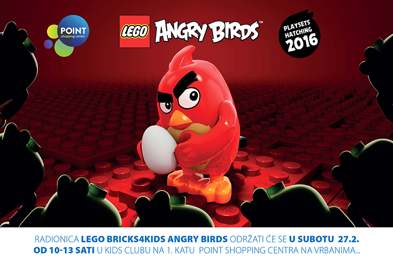 Dječja radionica LEGO Bricks 4 Kids Angry Birds