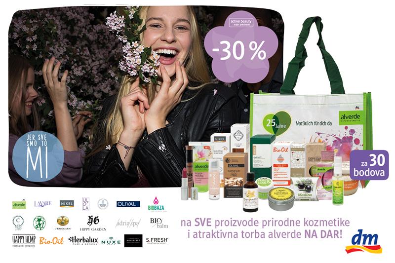 U dm-u 30% popusta na prirodnu kozmetiku i torba alverde u zamjenu za 30 bodova